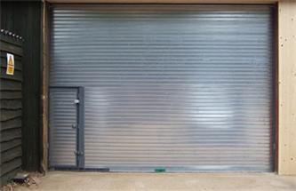 Industrial Roller Shutter Doors with Personnel Doors