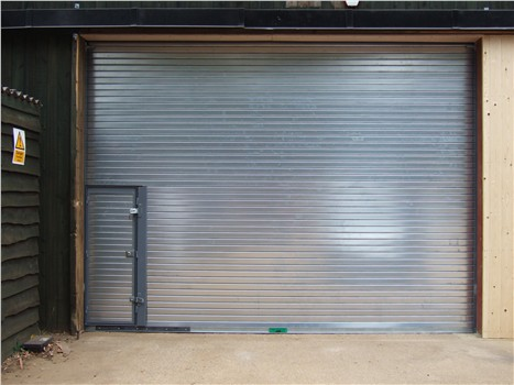 Industrial Door with wicket door