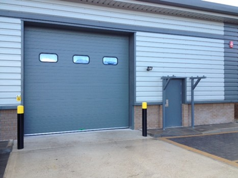 Sectional Door with vision panels