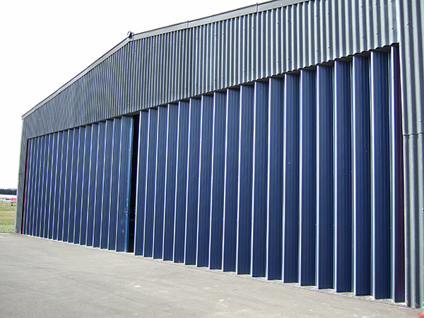 concertina industrial doors - large folding sliding doors from Wessex Industrial Doors